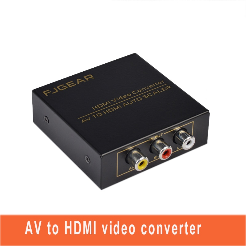 Convertisseur vidéo AV ZU HDMI Adattatore RCA Mini Composite CVBS a convertisseur HDMI 720 p/1080p coque métallique avec FJ-AH1308 dalimentation