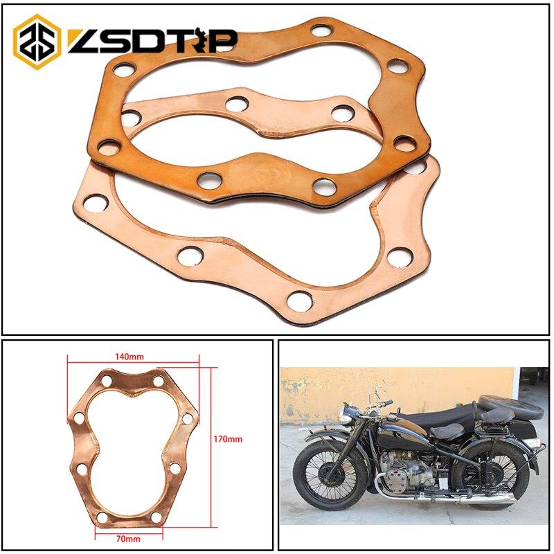 ZSDTRP 1 пара для K750 Урал головка цилиндра Чистая медь прокладки для BMW M1/M72/R71 костюм баварский двигатель запчасти