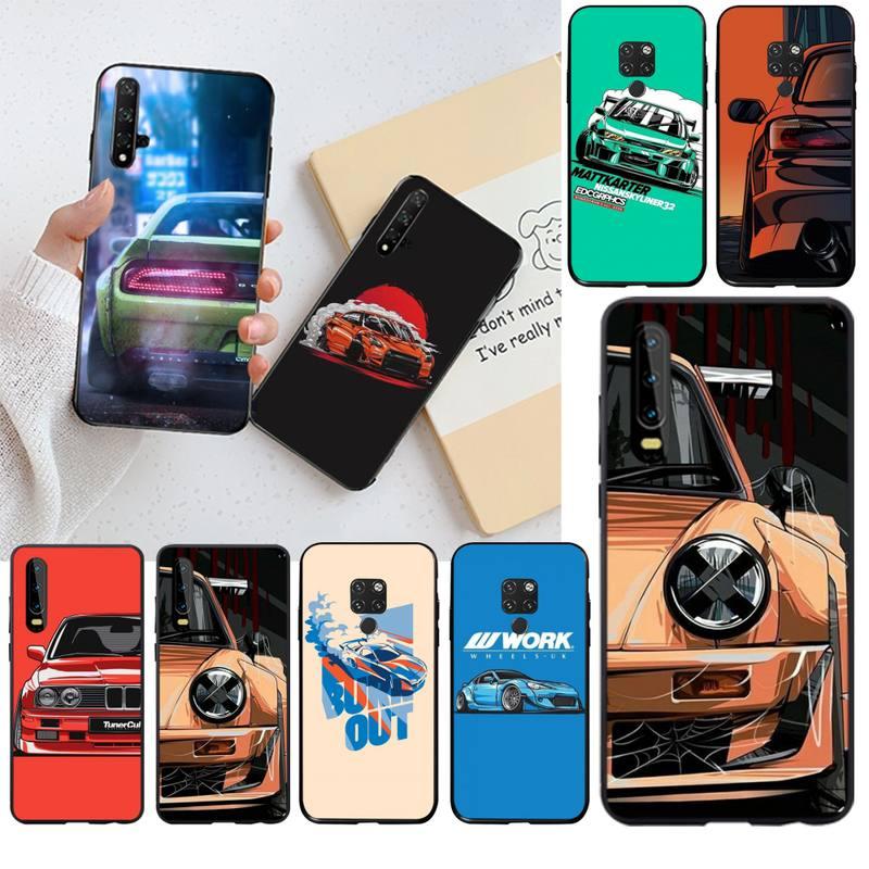 Мягкий чехол для телефона PENGHUWAN Cool Japan JDM Sports Car на заказ для Huawei P40 P30 P20 lite Pro Mate 20 Pro P Smart, 2019