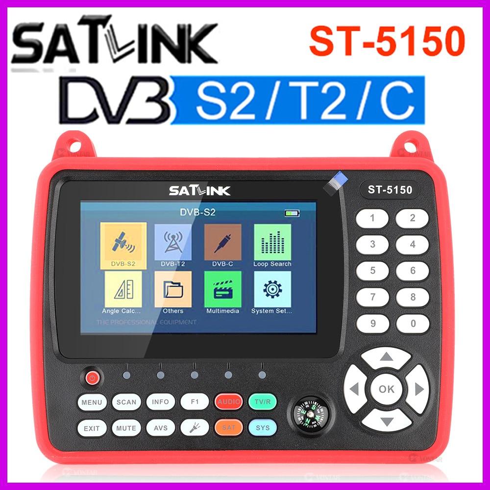 الأصلي Satlink ST-5150 جلس مكتشف DVB-S2 DVB-T2 DVB-C HD كومبو متر H.265 HEVC MPEG-4 QPSK 8PSK 16 16apsk 4.3 بوصة TFT