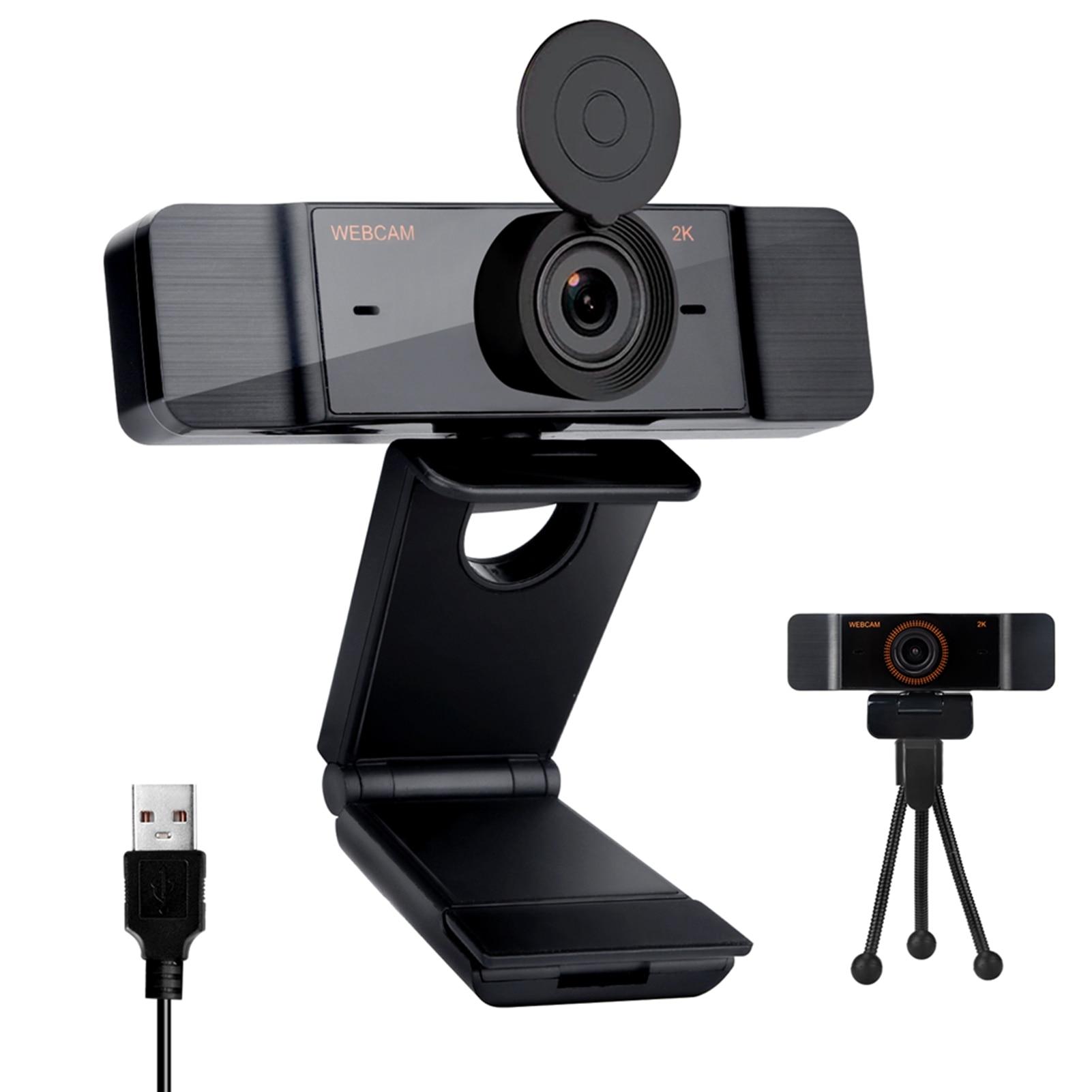 Привод-Бесплатная веб-камеры 2K Full HD 1080P веб-Камера автофокуса С микрофоном USB веб-камера для компьютера Mac ноутбука, настольного компьютера в...