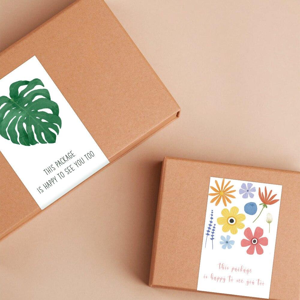10-50pcs-adesivo-rettangolare-foglia-verde-forniture-per-imballaggio-confezione-regalo-adesivo-sigillato-etichetta-in-carta-patinata