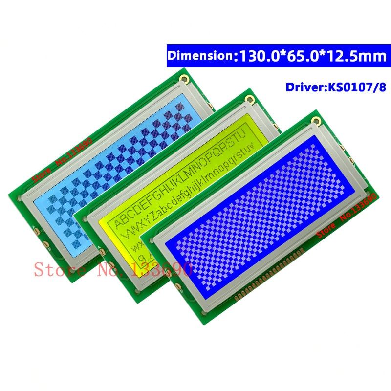 5v Graphic Negative LCD Module Display Screen LCM 19264 192X64 192*64 build-in KS0107 KS0108 LED Backlight Yellow/Blue/grey