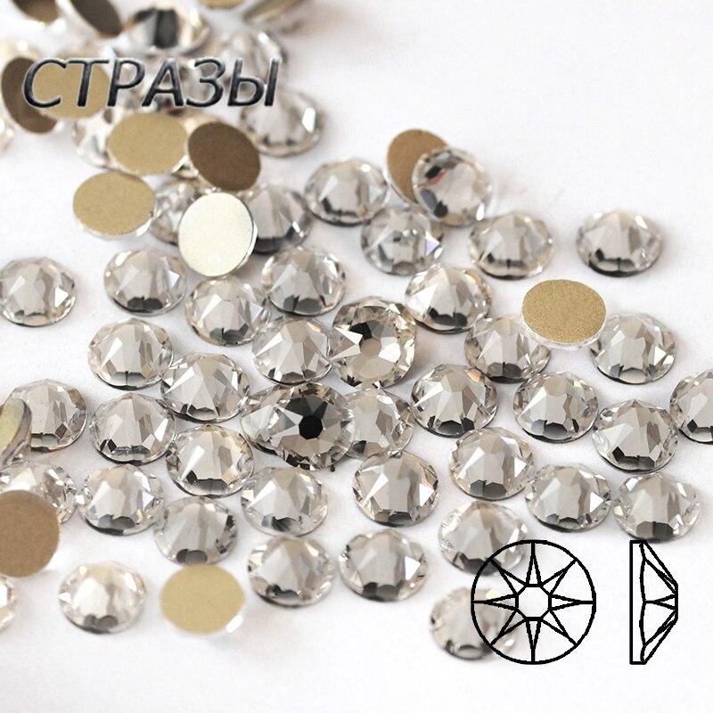 Piedras claras de cristal para uñas CTPA3bI 8Big8, piedras pequeñas sin Hotfix, diamantes de imitación, diamantes de imitación con parte posterior plana, cristales para vestido de boda