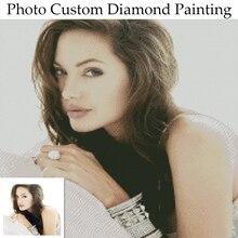Photo personnalisée diamant peinture 5D bricolage Photo de strass diamant broderie 3D point de croix maison décoration de mariage