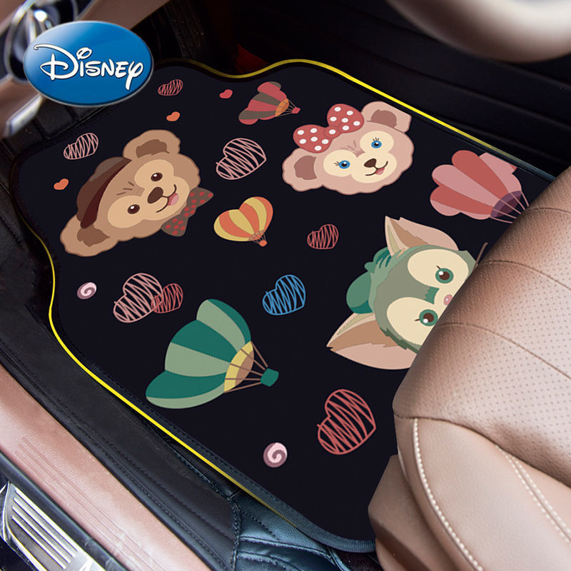 Disney Duffy Snow Cartoon Car Carpet Integral Floor Mat Easy To Clean Cute Car Ottoman Car Anti-skid Anti-Friction Mat enlarge
