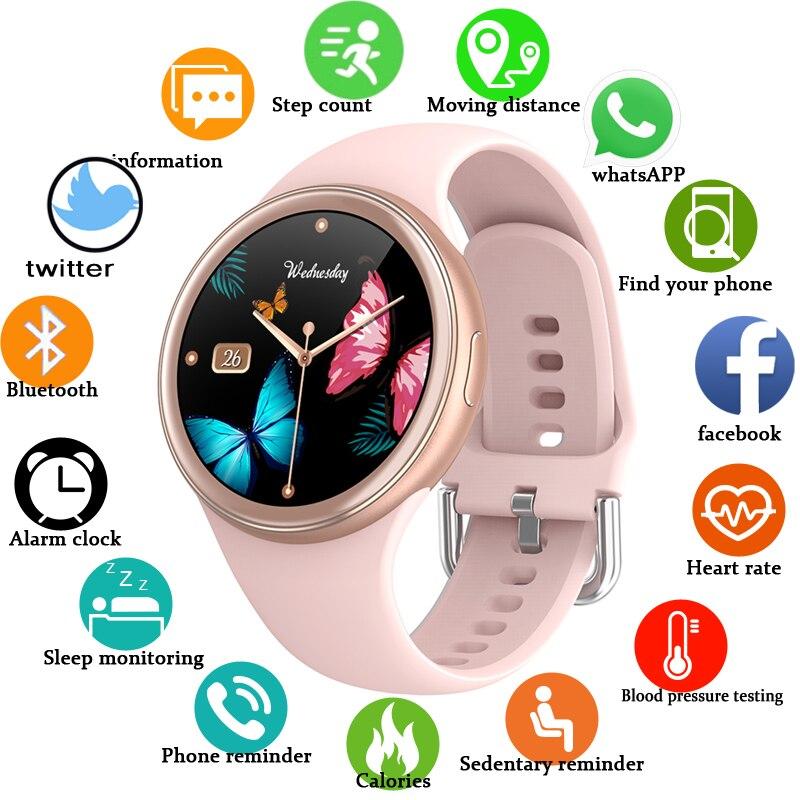 2021 جديد إمرأة smartwatch ثلاثية الأبعاد ساعة ذكيّة بشاشة لمس معدل ضربات القلب نشاط متتبع لياقة ساعة للنساء رجال أندرويد IOS