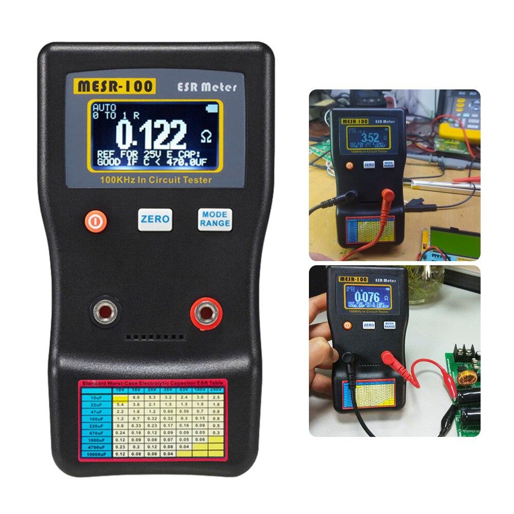 MESR-100 السعة متر ESR يده التلقائي عالية الدقة أدوات اختبار السعة الرقمية