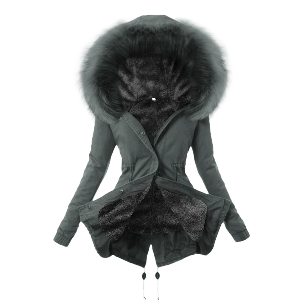 Abrigo de Invierno para Mujer, Abrigos y chaquetas con bolsillo, abrigo para...