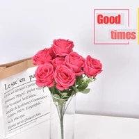 simulation bouquet 45cm single plant with 10 rosesbridal wedding bouquetholiday partyanniversarydecoration flower arrangement