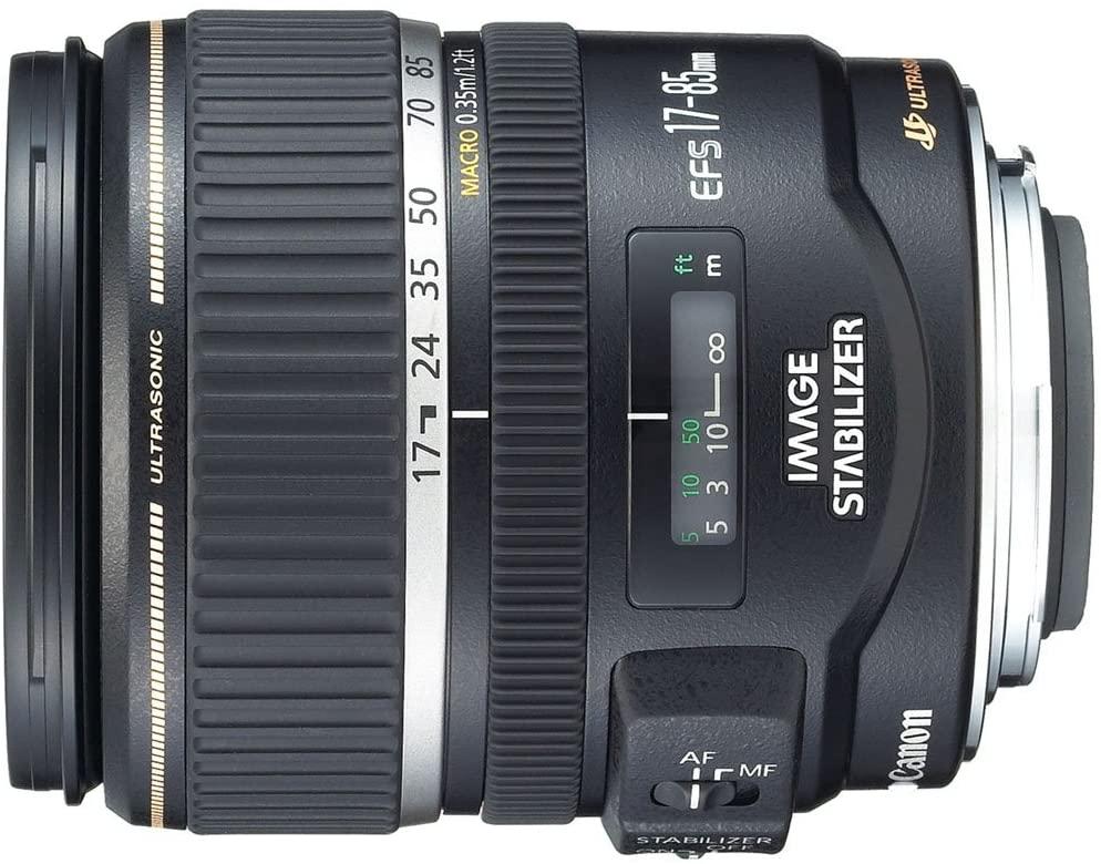 Lentes Canon EF-S usados de 17-85mm f/4-5.6, lentes estabilizados con imagen USM SLR para cámaras EOS digitales SLR