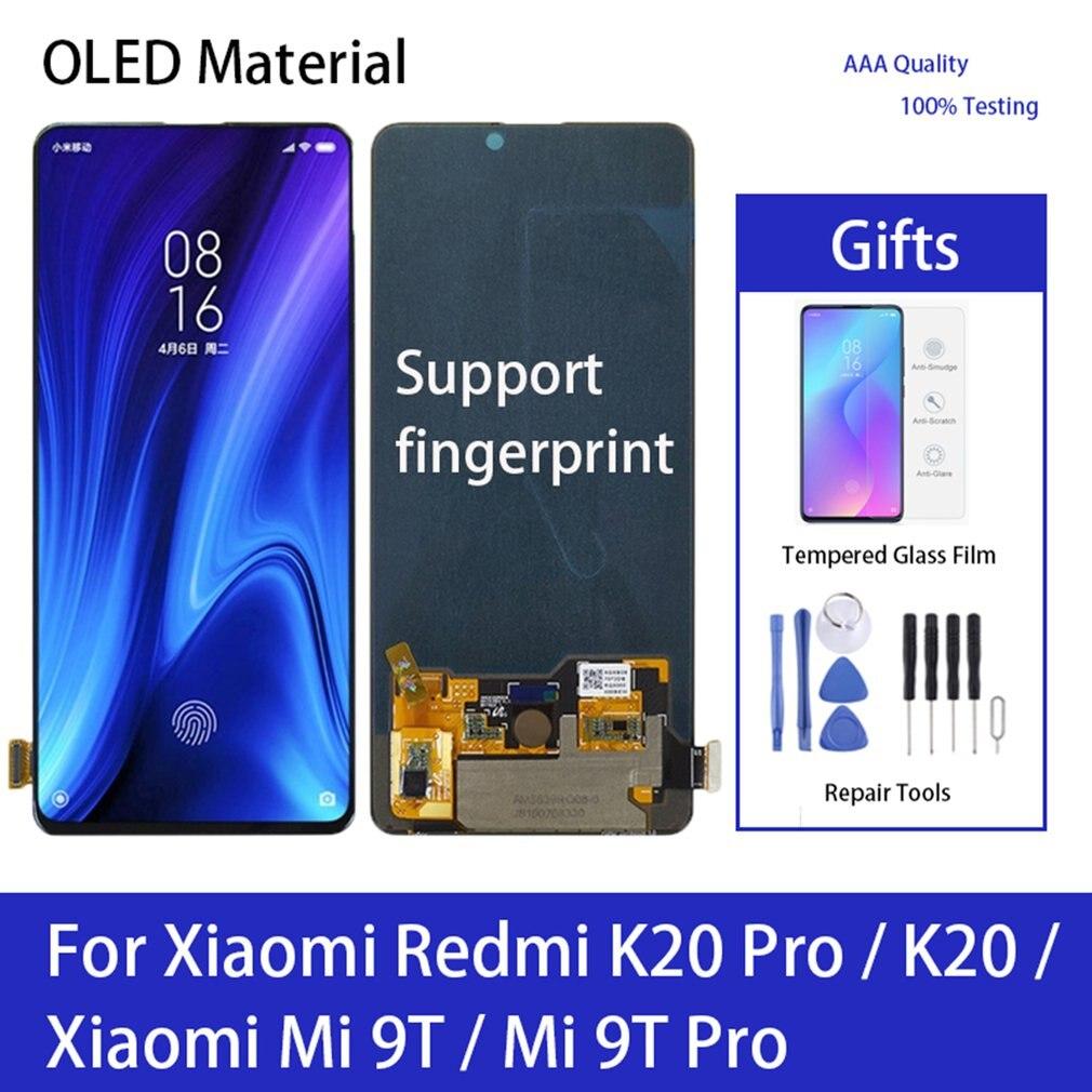 LCD عرض تعمل باللمس محول الأرقام كامل الجمعية استبدال جزء الحرة الغراء والأدوات ل شاومي Redmi K20 برو