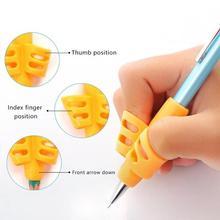 Zwei-Finger Stift Halter Silikon Baby Lernen Schreiben Werkzeug Korrektur Gerät Bleistift Set Briefpapier 3 Stück Set Geschenk