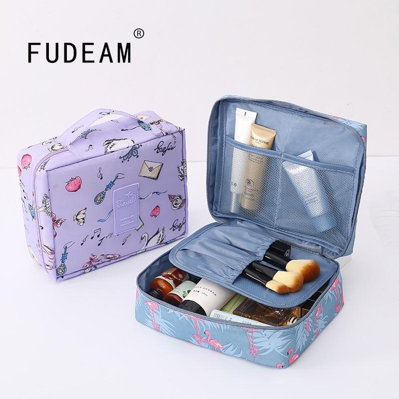 FUDEAM Multifunction Women Outdoor Storage Bag Toiletries Organize Cosmetic Bag Portable Waterproof Female Travel Make Up Cases