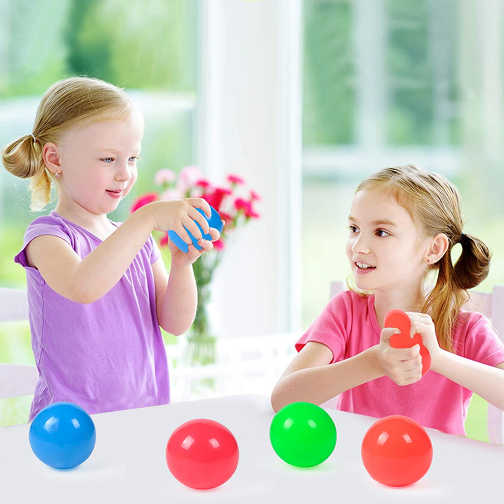 9pc Squeeze Toys Ball Antistress Kids Sticky Decompression Ball For Children Adults Desk Office Anti Stress Boys Girls DH enlarge