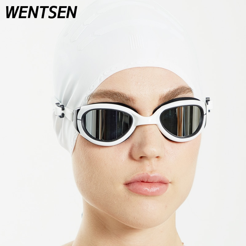 2020new Professional swimming goggles and cap adult women waterproof and anti-fog arena silicone glasses for swimming mad wave