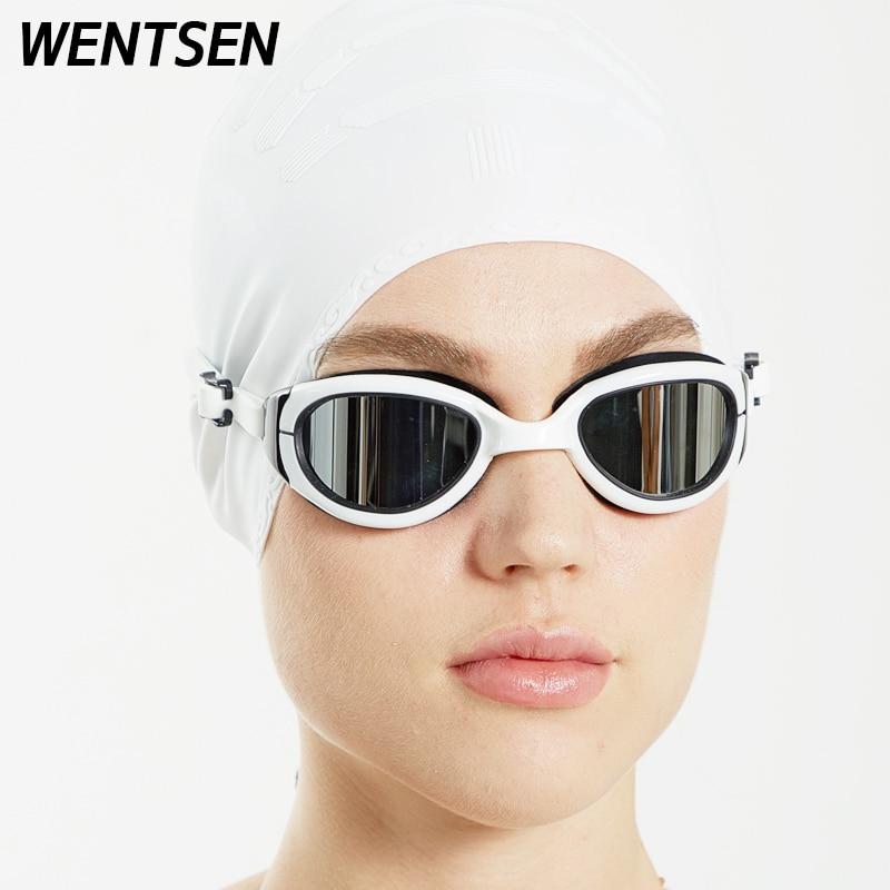 Óculos de Natação e Boné Mulher à Prova Água e Anti-nevoeiro Óculos para Natação Profissional Adulto Dwaterproof Arena Silicone Onda Louca 2022new