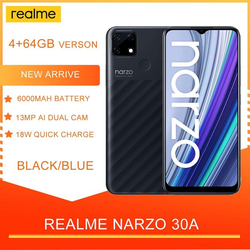 Смартфон Realme Narzo 30A, 4 + 64 ГБ, 13 МП, 6000 мА ч, 6,5 дюйма, 18 Вт