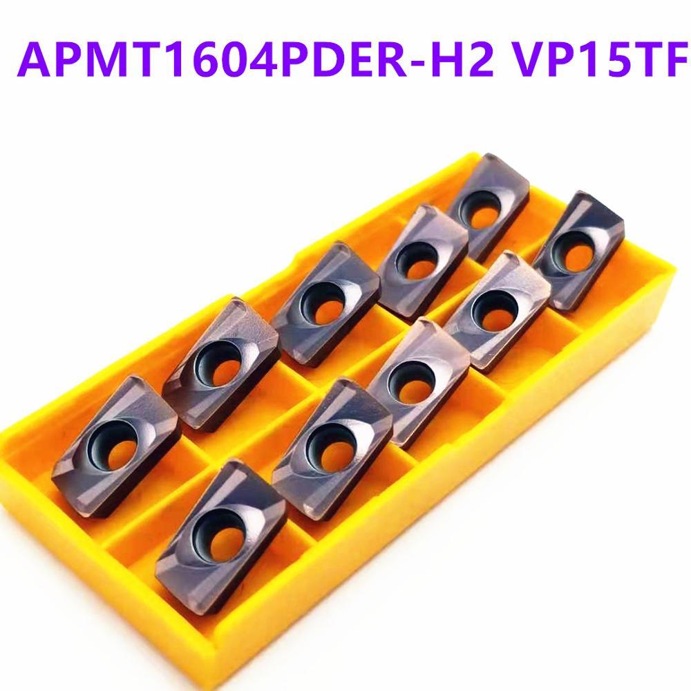 Tungsten Carbide APMT1604 H2 VP15TF Carbide Blade Turning Tool APMT 1604 Face Milling Cutter Tool CNC Tool APMT1604PDER