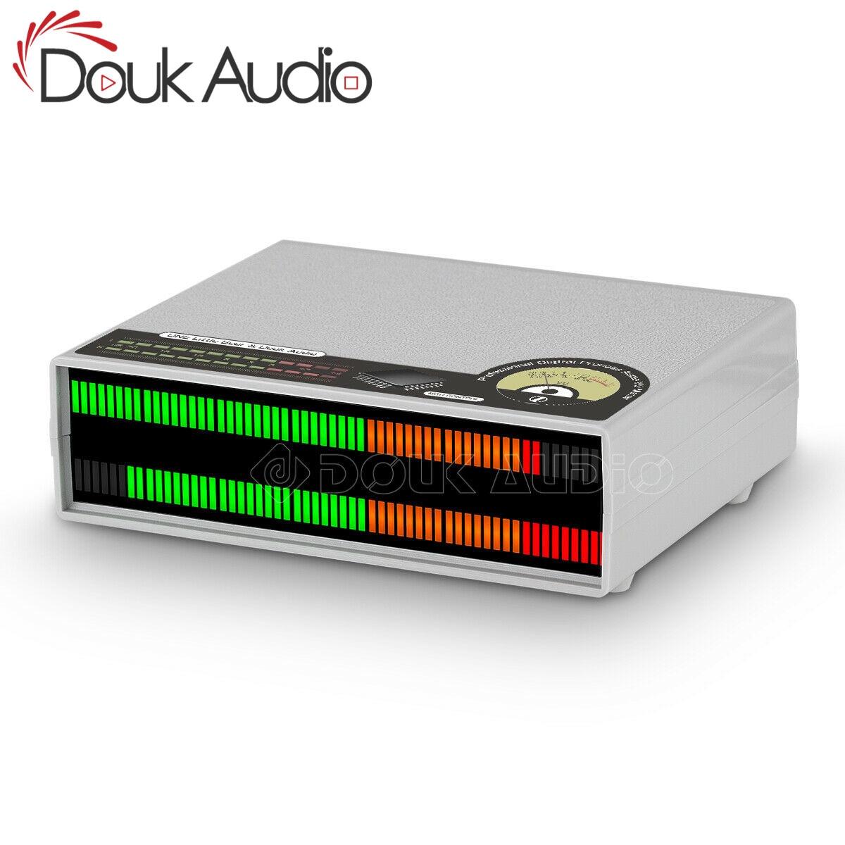 جهاز قياس مستوى الصوت من Douk مقاس 56 بت محلل شاشة عرض الصوت مزود بمصابيح LED للطيف الصوتي متخيل لسطح المكتب لنظام ستيريو المنزل