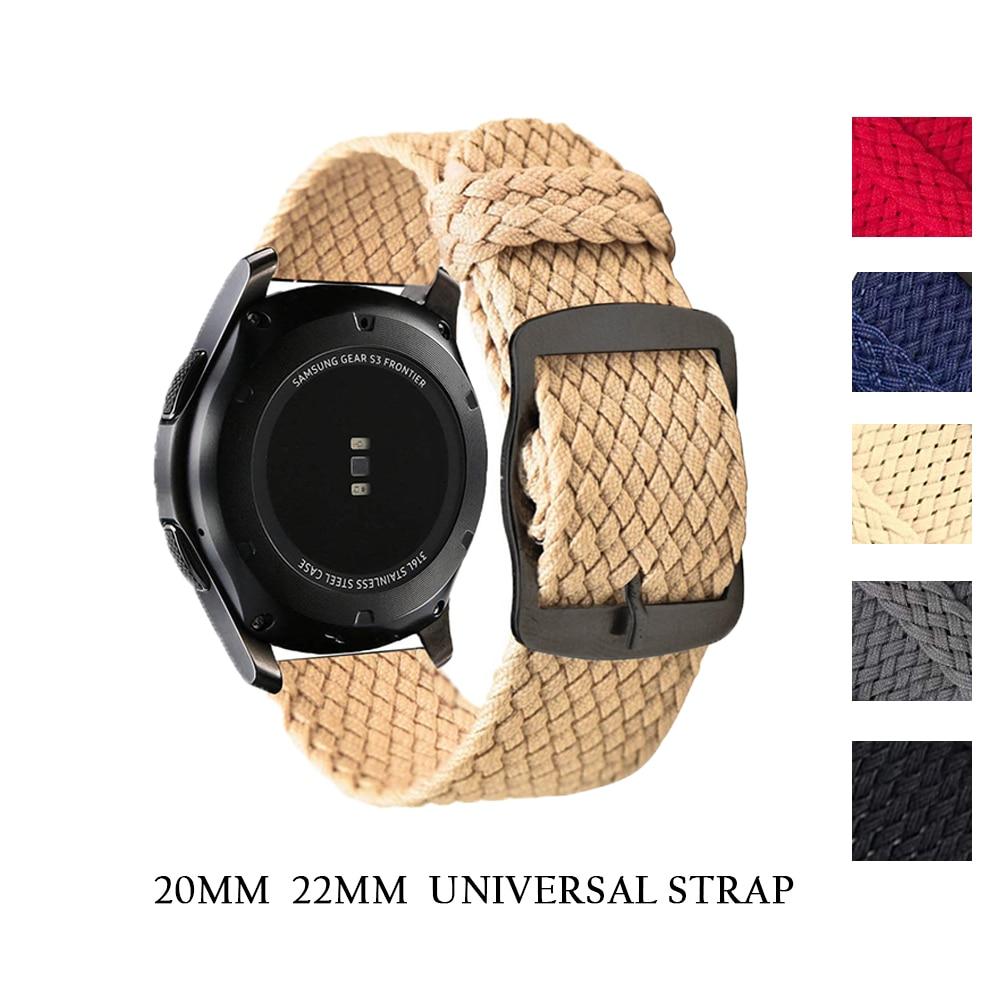 Nylon Geweven Horloge Band Colorful Vervanging Gesp Voor Samsung Getriebe S3 voor Xiaomi Huami Amazfit Tempo Armband 20 mm 22mm