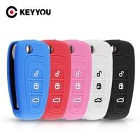 Силиконовый автомобильный пульт дистанционного управления KEYYOU с 3 кнопками для Ford Ranger C-Max S-Max Focus Galaxy Mondeo Transit Tourneo