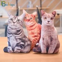 1pc 50cm Simulation en peluche chat dormir oreillers doux animaux en peluche coussin canapé décor dessin animé en peluche jouets pour enfants enfants cadeau