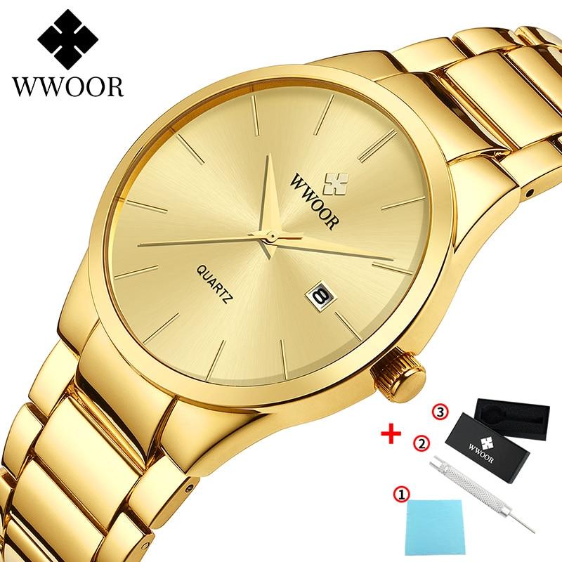 WWOOR-ساعات رجالية ، ماركة فاخرة ، ساعة يد كوارتز فولاذية كاملة ، رياضية ، مقاومة للماء ، مع صندوق ، 2021