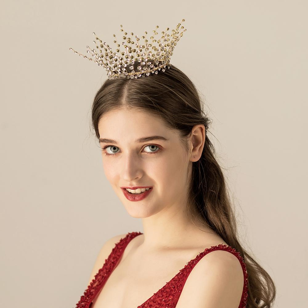 O575 Handmade luxury mini rhinestone crystal wedding tiara crown bridal headwear hair decoration wedding accessories недорого