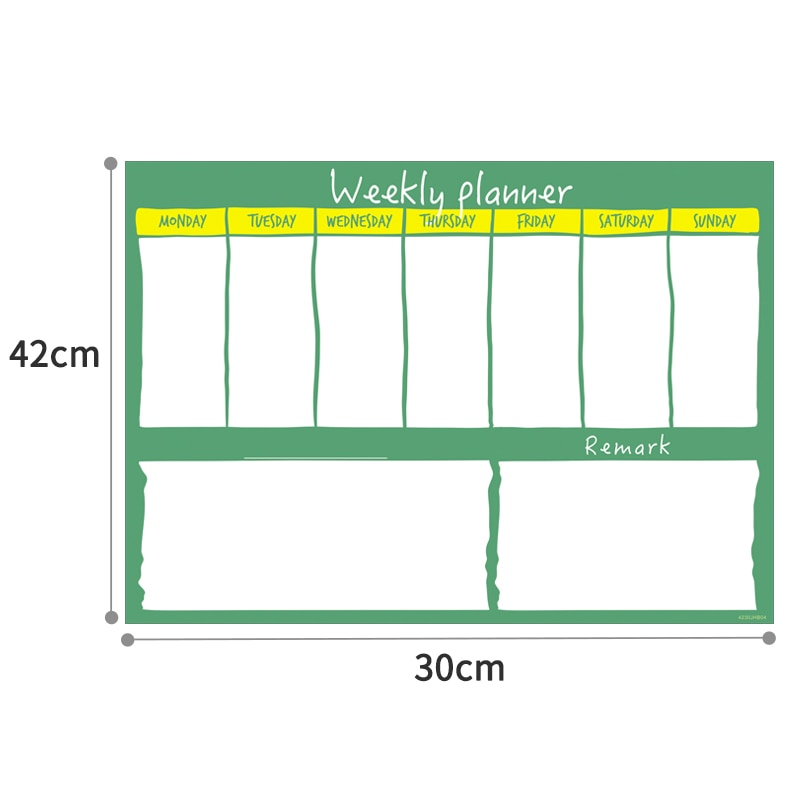 Erasable Organizer Board Magnetic Drawing Writing Bulletin White Boards Message Chores Chart with Free Marker for Fridge Magnets  - buy with discount