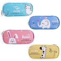 new creative large animal canvas pencil case school supplies pencil cases pouch for girl boys stationery pen bag storage holder