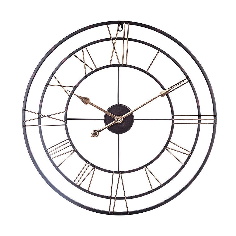 60cm 24 pulgadas 3D Reloj de pared grande vintage estilo hollow-out hogar arte relojes Sala pared decoración del hogar 2020