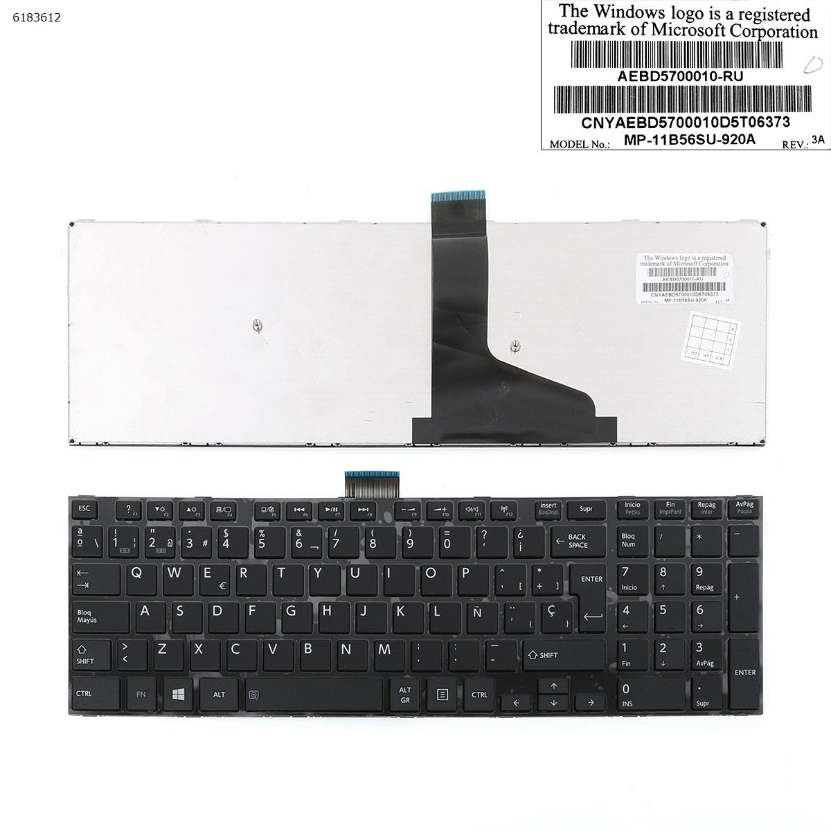 SP Spanish Layout New Replacement Keyboard for Toshiba Satellite S50-A S50D-A S50t-A S55-A S55t-A S55D-A S70-A S70t-a Laptop фото