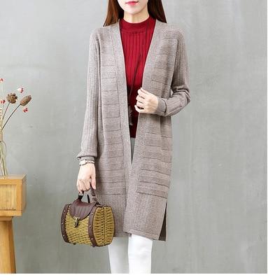 Женский кашемировый свитер, свободный свитер большого размера с длинным рукавом, осень 2019