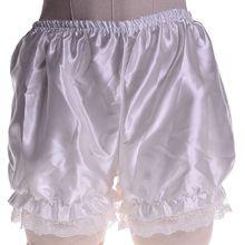 New Fashion Women Girls Satin Knickers Panties Safety Shorts Lolita Cosplay Lace Pumpkin Bloomers Sh