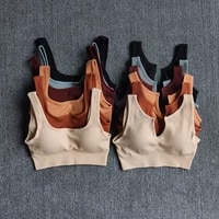 seamless sport bra womens fitness yoga running vest underwear padded crop tops underwear push up gym top bras