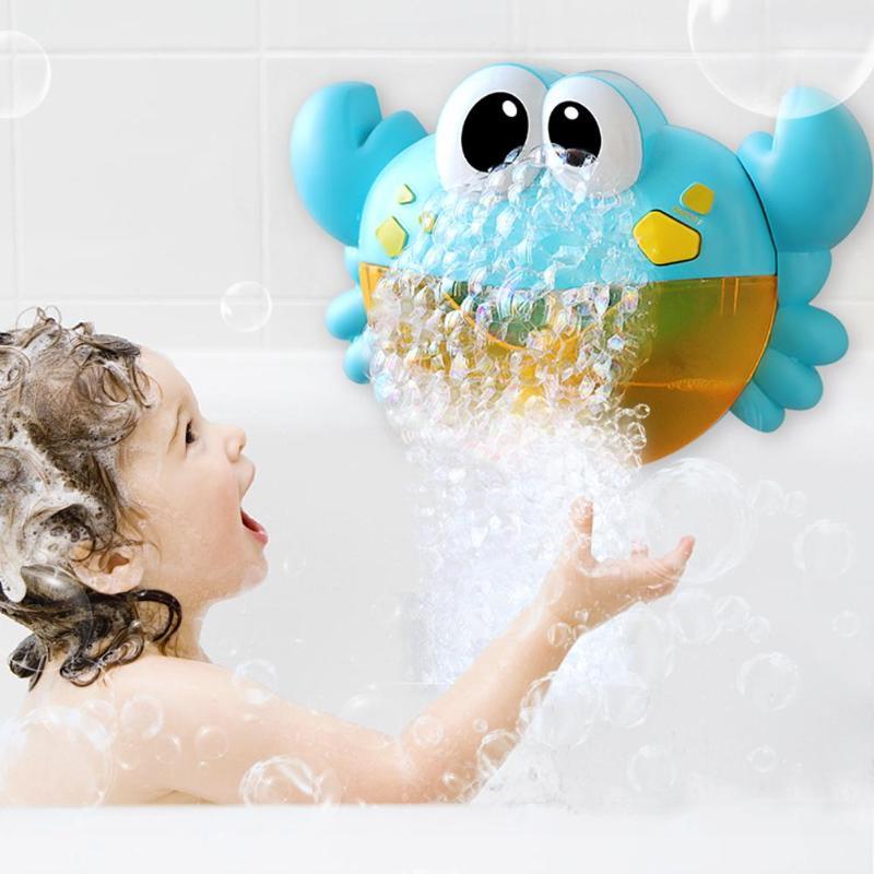 Пузырчатая машина, Игрушки для ванны, для улицы, лягушка и крабы, автоматический производитель, ванна для купания, мыло для детей, для малышей, с музыкальной игрушкой для воды