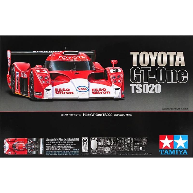 Tamiya-مجموعة بناء مركبة قابلة للتحصيل ، لعبة بلاستيكية ، مقياس 24222 1/24 LMGTP Toyota GT-One TS020 1999 Le man