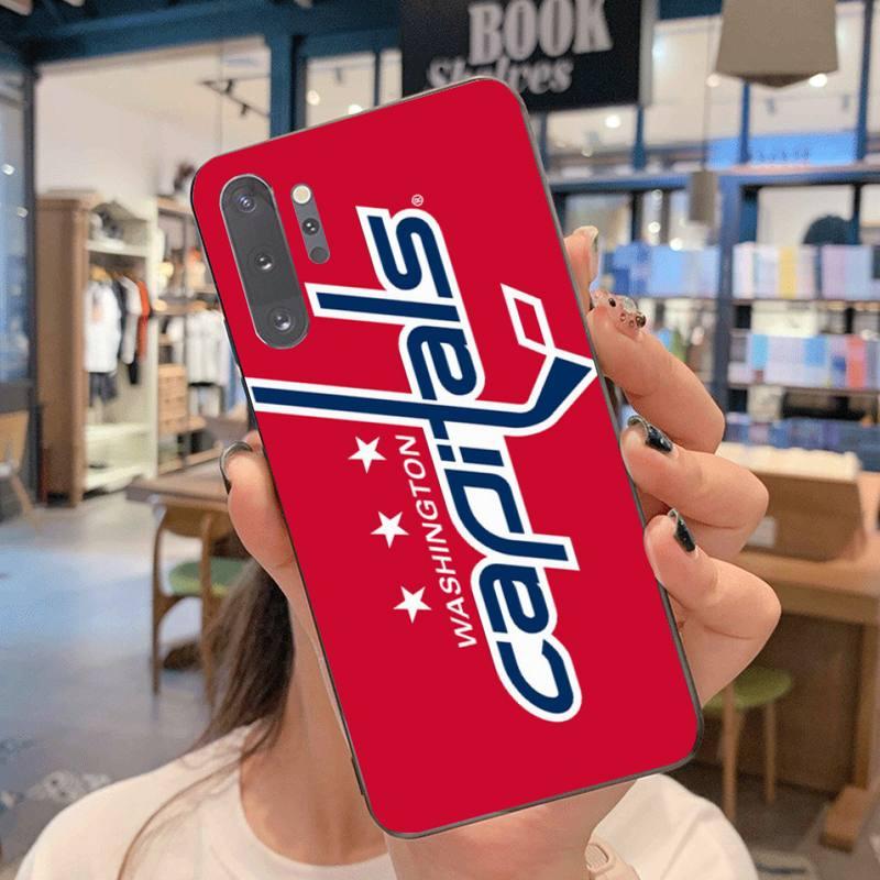 Washington hóquei equipe emblema capa do telefone para samsung note 7 8 9 10 lite plus galaxy j7 j8 j6 plus 2018 prime