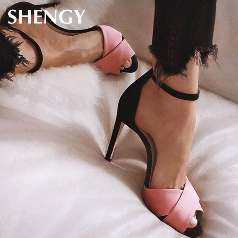 202 женские летние туфли на высоком каблуке, свадебные туфли, гладиаторские женские туфли на каблуке, женские модные сандалии с открытым носк...