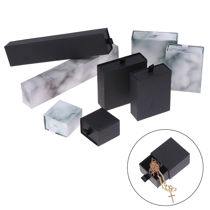 Jewelry Box Necklace Bracelet Earrings Ring Box Packaging 1pcs Pull Out Wholesale Lots Bulk Jewelry Gifts Boxs