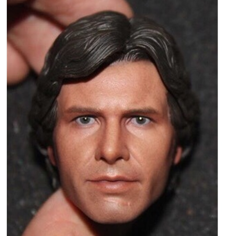 "1/6 Scale Harrison Ford Head Sculpt Head Carving For 12"" Action Figure Body doll"