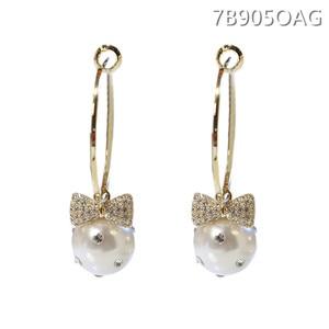 Glamoured earrings of pearl, natural earrings for modern, fresh women 2019