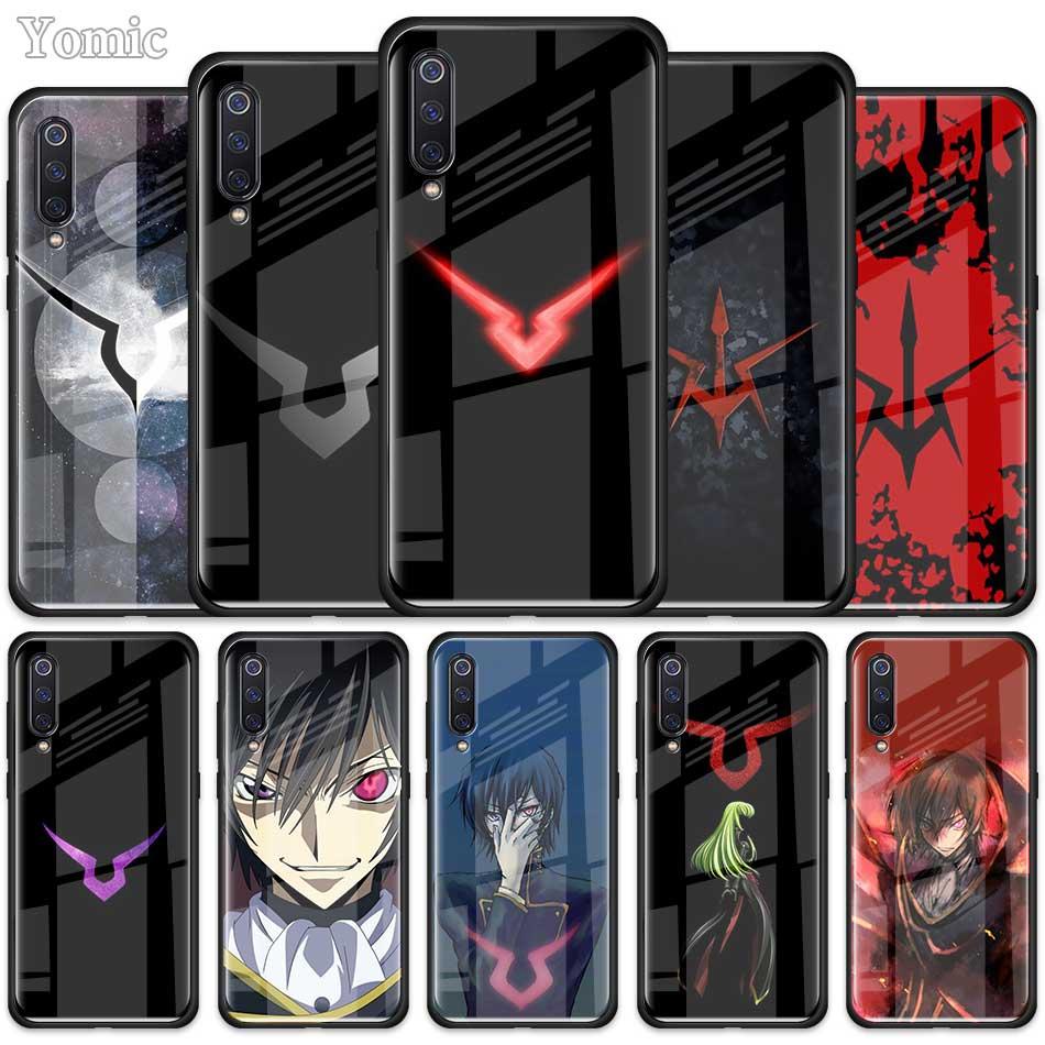 Code Geass Symbol Zeichen Logo Fall für Xiaomi Redmi Mi Hinweis A3 9T 10 Lite Jugend 10X 9 9S 8 8T K30 K20 Pro K30i Glas Telefon Abdeckung