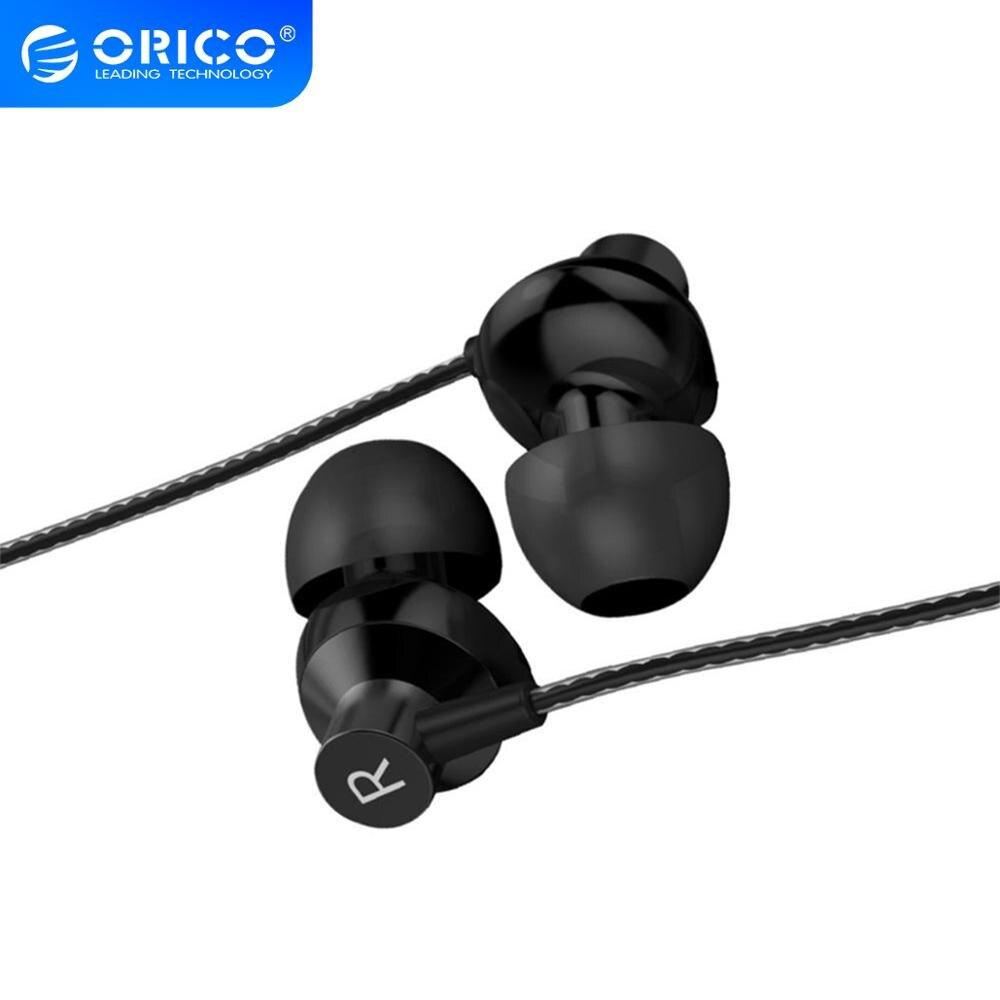 ORICO auricular con cable en el oído, auriculares con sonido alto, estéreo doble, para juegos deportivos, auriculares de música para XIoami Mi iPhone con micrófono