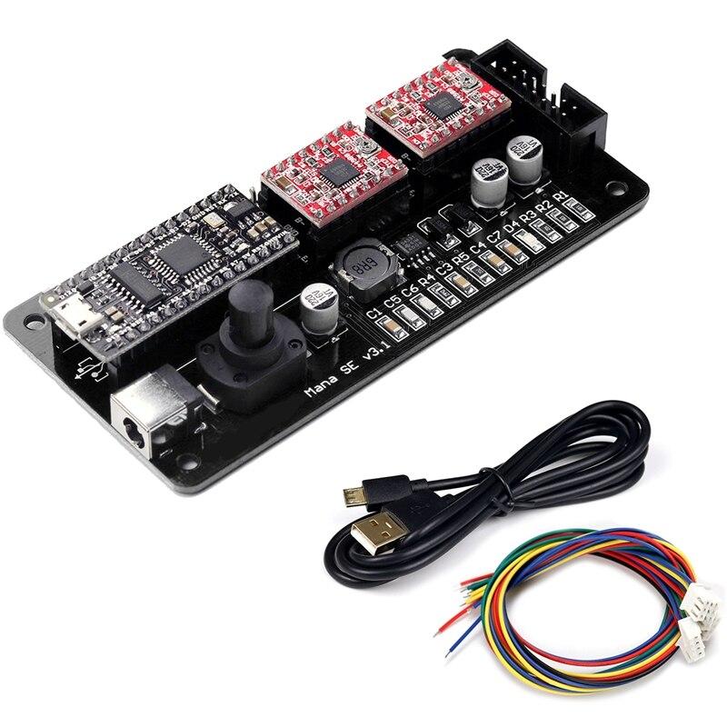 Grande negócio eleksmana se xy 2 eixo motor de passo driver placa controlador painel controle para diy gravador