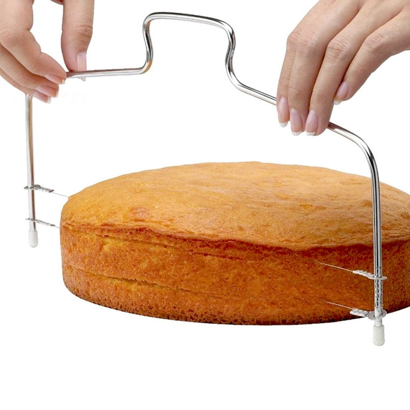 قطاعة كعك من الفولاذ المقاوم للصدأ قابلة للتعديل ، ملحقات المطبخ ، أواني الخبز ، التسوية ، سكين الخبز ، أدوات الخبز
