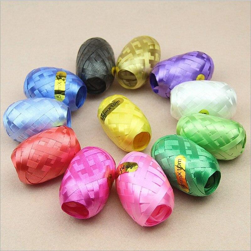 Cinta de Rugby boda cumpleaños huevo de Decoración Accesorios de globos cinta pastel cuerda 5mm * 10m