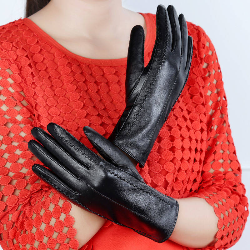Women Gloves Winter Touch Screen 2020 High Quality Elegant PU Leather Autumn And Trendy Female
