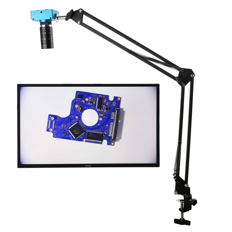 Hd 2 k 30mp 1080 p hdmi digital câmera de vídeo industrial + grande campo visual alta distância de trabalho f1.6 6-60mm zoom lente